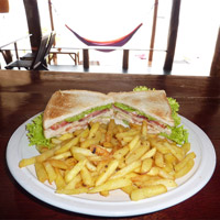Club Sandwich with Homemade French Fries